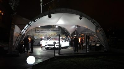 Арочный шатер 10х10м