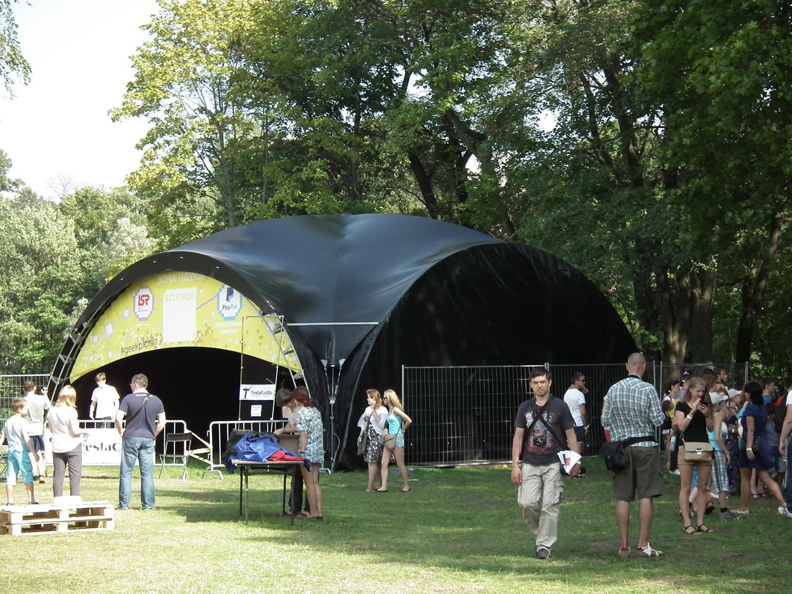 Черный арочный шатер 10х10м top Blackout