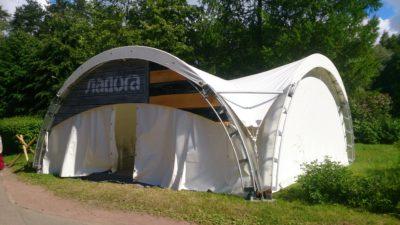 Арочный шатер 8х8м
