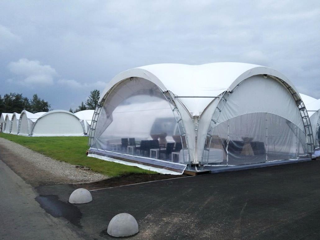 Арочный шатер 10х10м Дюна