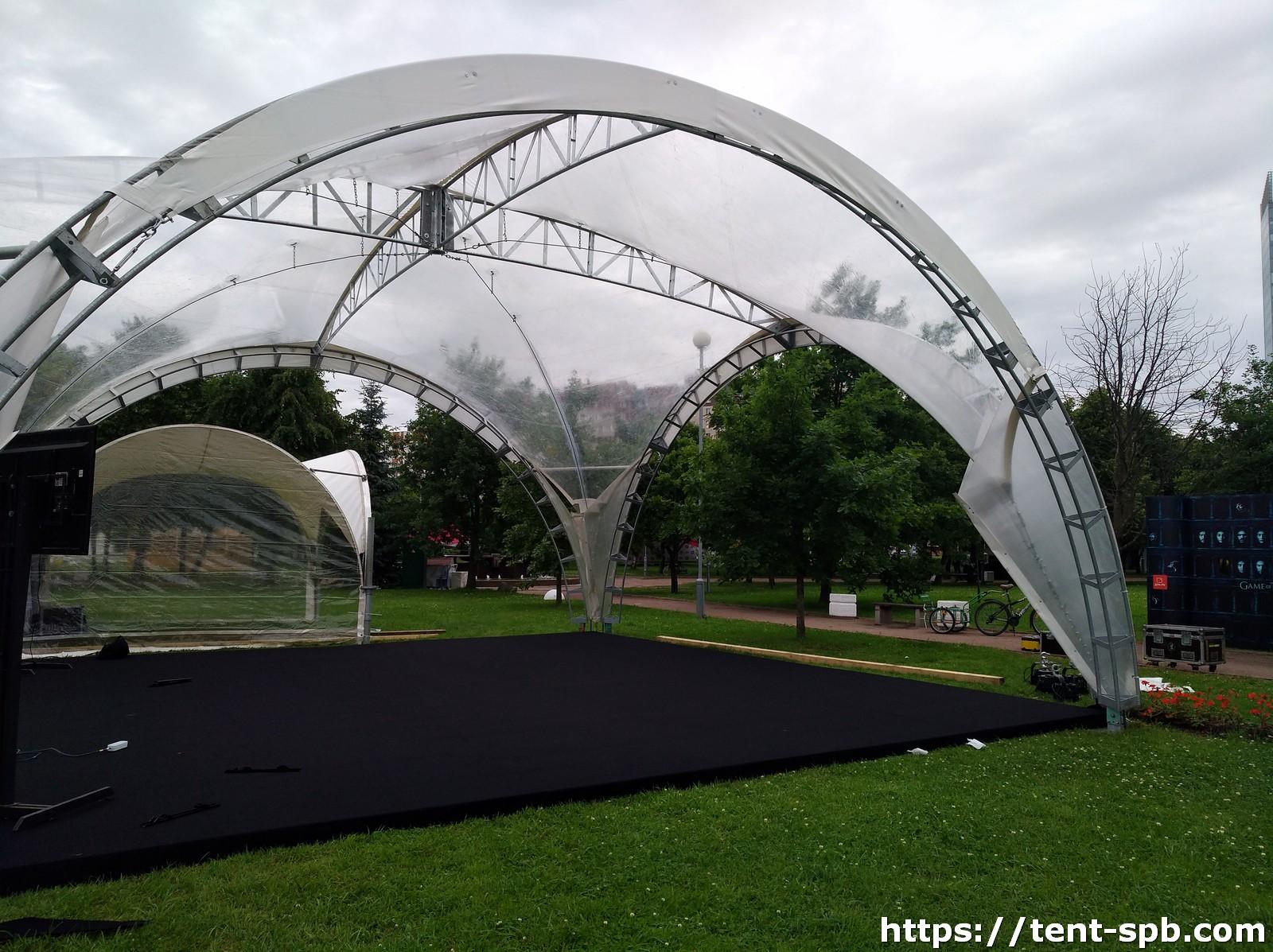 Арочный прозрачный шатер