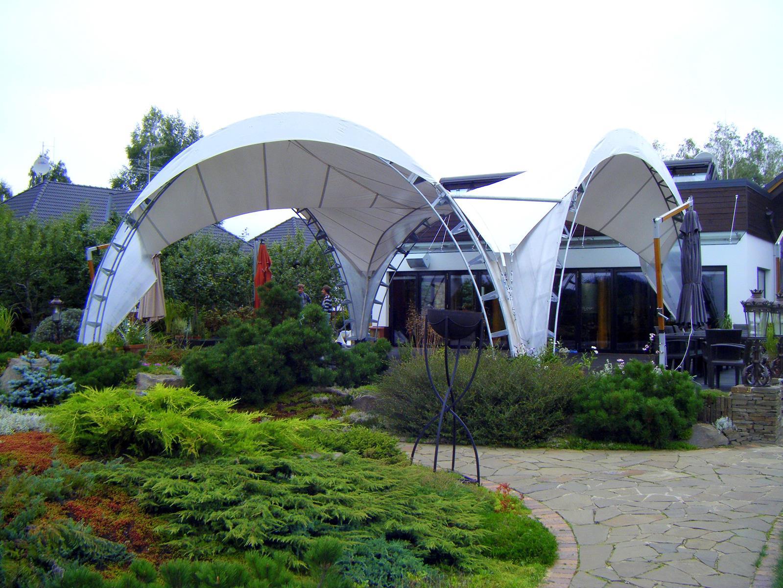 арочный шатер каркасный