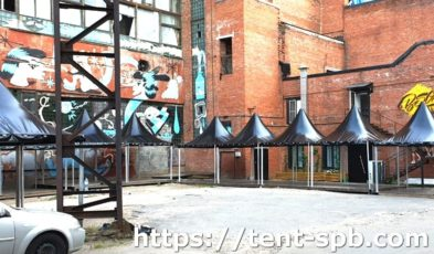 Черный шатер Пагода 3х3